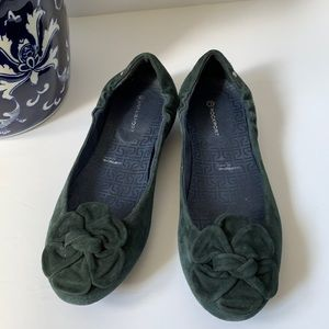 Rockport by Adidas suede navy blue ballet flats 7